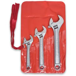 3 Pieces – 6″, 8″, 10″ Chrome Plated Adjustable Wrench Set, First Generation