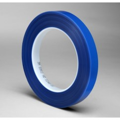 1 in × 72 yd Polyester Tape Blue